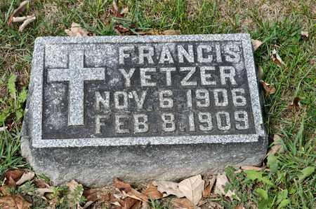 YETZER, FRANCIS - Richland County, Ohio   FRANCIS YETZER - Ohio Gravestone Photos