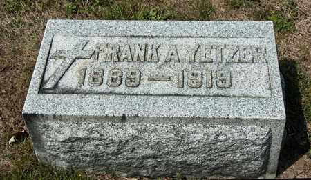 YETZER, FRANK A - Richland County, Ohio   FRANK A YETZER - Ohio Gravestone Photos