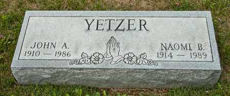 YETZER, JOHN A - Richland County, Ohio | JOHN A YETZER - Ohio Gravestone Photos