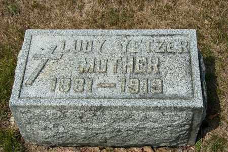 YETZER, LUCY - Richland County, Ohio | LUCY YETZER - Ohio Gravestone Photos