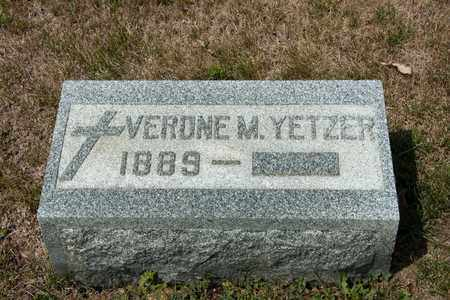 YETZER, VERONE M - Richland County, Ohio | VERONE M YETZER - Ohio Gravestone Photos