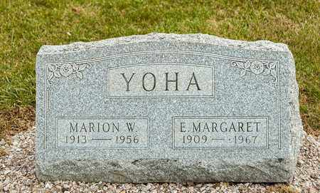 YOHA, MARION W - Richland County, Ohio | MARION W YOHA - Ohio Gravestone Photos