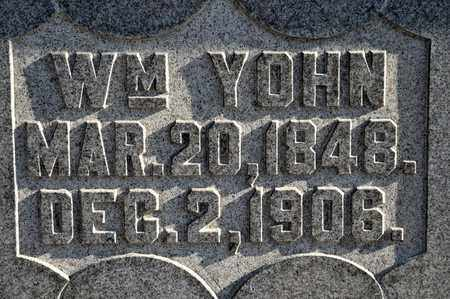 YOHN, WILLIAM - Richland County, Ohio   WILLIAM YOHN - Ohio Gravestone Photos
