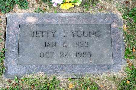 YOUNG, BETTY J - Richland County, Ohio   BETTY J YOUNG - Ohio Gravestone Photos