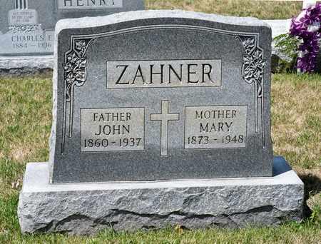 ZAHNER, MARY - Richland County, Ohio | MARY ZAHNER - Ohio Gravestone Photos