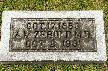 ZEBOLD, A M - Richland County, Ohio   A M ZEBOLD - Ohio Gravestone Photos