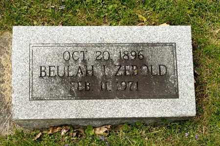 ZEBOLD, BEULAH I - Richland County, Ohio | BEULAH I ZEBOLD - Ohio Gravestone Photos