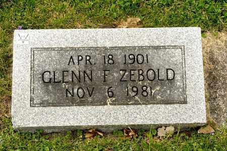 ZEBOLD, GLENN F - Richland County, Ohio | GLENN F ZEBOLD - Ohio Gravestone Photos