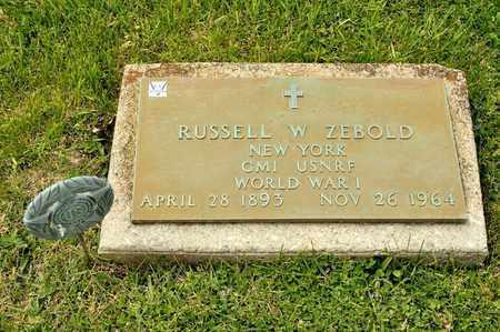 ZEBOLD, RUSSELL W - Richland County, Ohio   RUSSELL W ZEBOLD - Ohio Gravestone Photos
