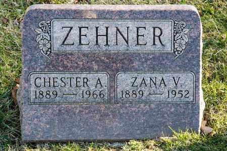 ZEHNER, ZANA V - Richland County, Ohio | ZANA V ZEHNER - Ohio Gravestone Photos