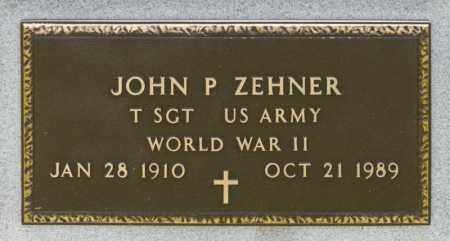 ZEHNER, JOHN PAUL - Richland County, Ohio | JOHN PAUL ZEHNER - Ohio Gravestone Photos