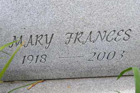 FINLEY ZEHNER, MARY FRANCES - Richland County, Ohio | MARY FRANCES FINLEY ZEHNER - Ohio Gravestone Photos