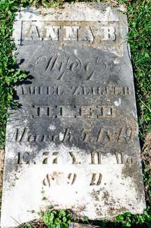 ZEIGLER, ANNA B - Richland County, Ohio | ANNA B ZEIGLER - Ohio Gravestone Photos