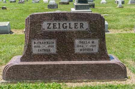 ZEIGLER, B FRANKLIN - Richland County, Ohio | B FRANKLIN ZEIGLER - Ohio Gravestone Photos