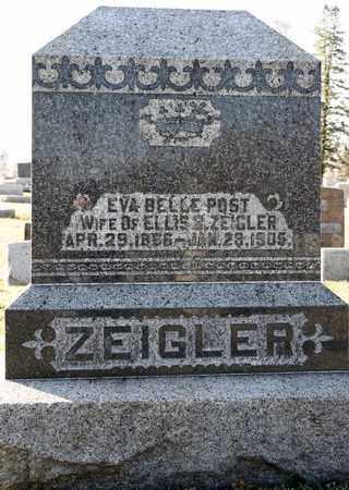 POST ZEIGLER, EVA BELLE - Richland County, Ohio   EVA BELLE POST ZEIGLER - Ohio Gravestone Photos