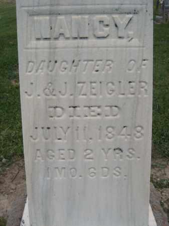 ZEIGLER, NANCY - Richland County, Ohio   NANCY ZEIGLER - Ohio Gravestone Photos