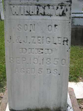 ZEIGLER, WILLIAM W - Richland County, Ohio   WILLIAM W ZEIGLER - Ohio Gravestone Photos