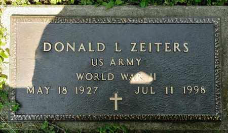 ZEITERS, DONALD L - Richland County, Ohio   DONALD L ZEITERS - Ohio Gravestone Photos