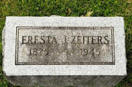 ZEITERS, ERESTA J - Richland County, Ohio | ERESTA J ZEITERS - Ohio Gravestone Photos