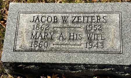 ZEITERS, JACOB W - Richland County, Ohio | JACOB W ZEITERS - Ohio Gravestone Photos
