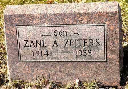 ZEITERS, ZANE A - Richland County, Ohio | ZANE A ZEITERS - Ohio Gravestone Photos