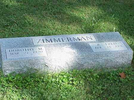 ZIMMERMAN, DOROTHY M. - Richland County, Ohio | DOROTHY M. ZIMMERMAN - Ohio Gravestone Photos