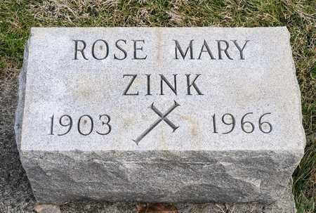 ZINK, ROSE MARY - Richland County, Ohio | ROSE MARY ZINK - Ohio Gravestone Photos
