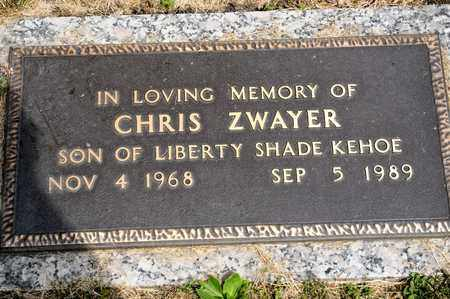 ZWAYER, CHRIS - Richland County, Ohio | CHRIS ZWAYER - Ohio Gravestone Photos
