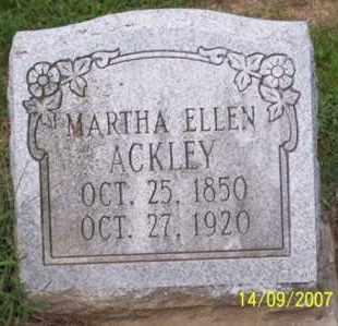 ACKLEY, MARTHA ELLEN - Ross County, Ohio | MARTHA ELLEN ACKLEY - Ohio Gravestone Photos