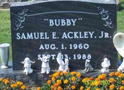 "ACKLEY, SAMUEL E. JR. ""BUBBY"" - Ross County, Ohio | SAMUEL E. JR. ""BUBBY"" ACKLEY - Ohio Gravestone Photos"