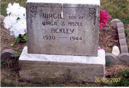 ACKLEY, VIRGIL - Ross County, Ohio | VIRGIL ACKLEY - Ohio Gravestone Photos