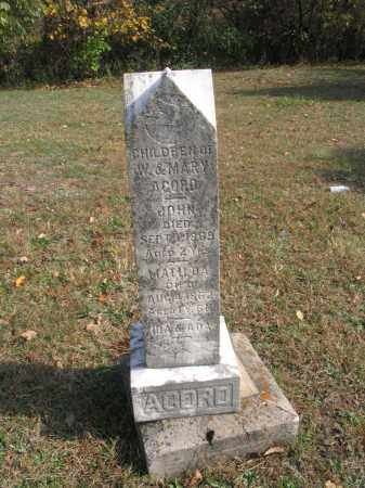 ACORD, MATILDA - Ross County, Ohio | MATILDA ACORD - Ohio Gravestone Photos