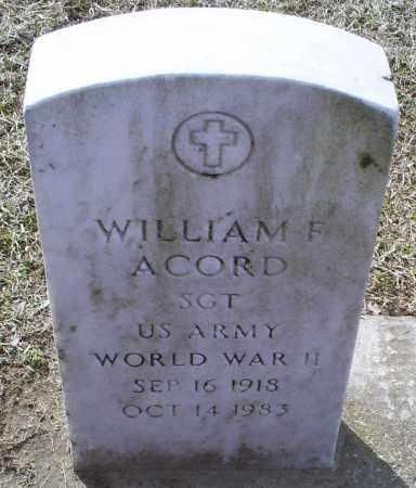 ACORD, WILLIAM F. - Ross County, Ohio   WILLIAM F. ACORD - Ohio Gravestone Photos