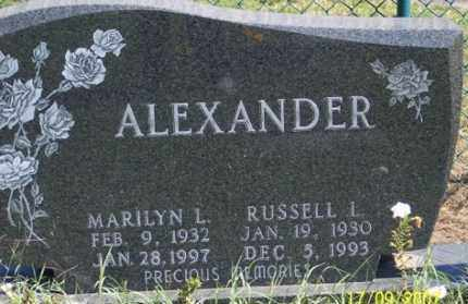 ALEXANDER, RUSSELL L. - Ross County, Ohio | RUSSELL L. ALEXANDER - Ohio Gravestone Photos