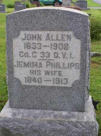 PHILLIPS ALLEN, JEMIMA - Ross County, Ohio | JEMIMA PHILLIPS ALLEN - Ohio Gravestone Photos