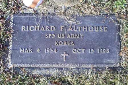 ALTHOUSE, RICHARD F. - Ross County, Ohio | RICHARD F. ALTHOUSE - Ohio Gravestone Photos