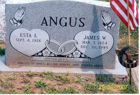 ANGUS, ESTA I. - Ross County, Ohio | ESTA I. ANGUS - Ohio Gravestone Photos