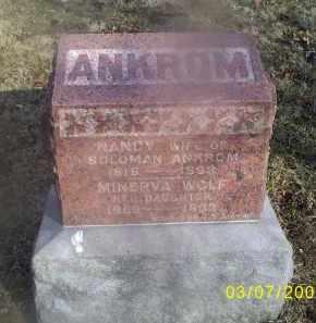 WOLF ANKROM, MINERVA - Ross County, Ohio | MINERVA WOLF ANKROM - Ohio Gravestone Photos