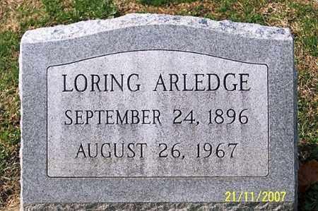 ARLEDGE, LORING - Ross County, Ohio   LORING ARLEDGE - Ohio Gravestone Photos