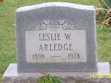 ARLEDGE, LESLIE W. - Ross County, Ohio | LESLIE W. ARLEDGE - Ohio Gravestone Photos