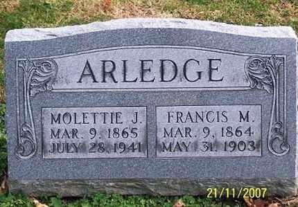 ARLEDGE, FRANCIS M. - Ross County, Ohio   FRANCIS M. ARLEDGE - Ohio Gravestone Photos