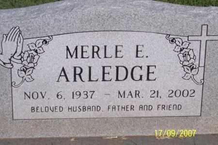 ARLEDGE, MERLE E. - Ross County, Ohio   MERLE E. ARLEDGE - Ohio Gravestone Photos