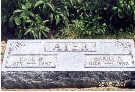 ATER, HARRY R. - Ross County, Ohio | HARRY R. ATER - Ohio Gravestone Photos