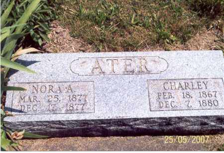 ATER, NORA A. - Ross County, Ohio | NORA A. ATER - Ohio Gravestone Photos