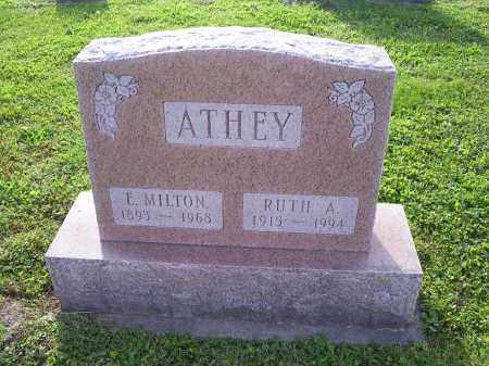 ATHEY, E. MILTON - Ross County, Ohio | E. MILTON ATHEY - Ohio Gravestone Photos