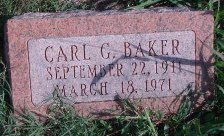 BAKER, CARL G - Ross County, Ohio | CARL G BAKER - Ohio Gravestone Photos