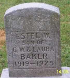 BAKER, ESTEL W. - Ross County, Ohio | ESTEL W. BAKER - Ohio Gravestone Photos