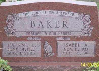 BAKER, ISABEL A. - Ross County, Ohio | ISABEL A. BAKER - Ohio Gravestone Photos