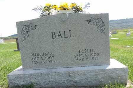 BALL, LESLIE - Ross County, Ohio | LESLIE BALL - Ohio Gravestone Photos