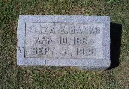BANKS, ELIZA E. - Ross County, Ohio | ELIZA E. BANKS - Ohio Gravestone Photos